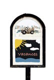 Isolated Blackboard VACANCES (french for holidays) Royalty Free Stock Photo