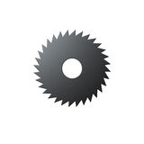 Isolated blade of saw Stock Images