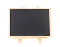 Isolated blank blackboard on wooden framework Royalty Free Stock Photography