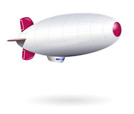 Isolated Blank Dirigible Royalty Free Stock Photography