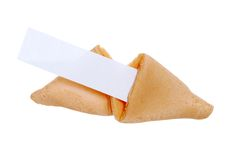 Isolated Blank Fortune Cookie Royalty Free Stock Image