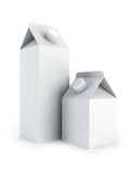 Isolated blank milk boxes Royalty Free Stock Photo