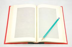 Isolated Blank Note Book Stock Photo