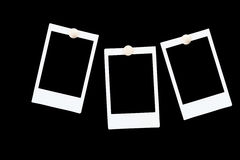 Isolated blank photo frames Stock Images