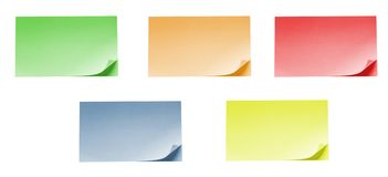 Isolated blank postit paper on withe background Royalty Free Stock Photography