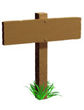 Isolated blank signpost Stock Image