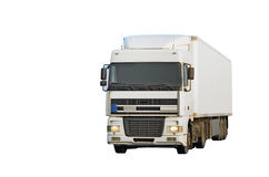 Isolated blank truck Stock Images