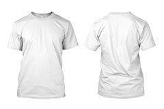 Isolated Blank White Shirt Stock Images