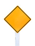 Isolated Blank Yellow Sign Stock Photos