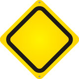 Isolated Blank Yellow Sign Stock Image