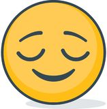 Isolated bliss emoticons. Isolated emoticons. Isolated bliss emoticons. Isolated vector emoticons on white background Royalty Free Stock Photo