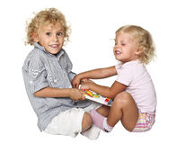 Isolated blonde kids Stock Photography