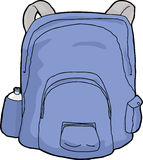 Isolated Blue Backpack Stock Photos