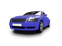 Isolated blue car front view Royalty Free Stock Photos
