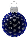 Isolated Blue Christmas Ornament Royalty Free Stock Photography