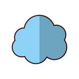 Isolated blue cloud design Stock Photo