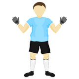 Isolated blue dress goalie standing vector Stock Photography