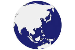 Isolated Blue Earth - Asia Royalty Free Stock Images