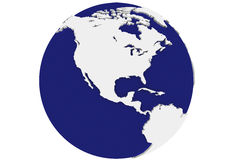 Isolated Blue Earth - North America Royalty Free Stock Photo
