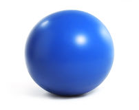 Isolated blue exercise ball Royalty Free Stock Photo
