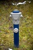 Isolated blue hydrant Stock Photo