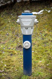 Isolated blue hydrant Stock Photos
