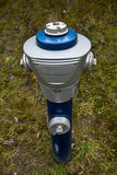 Isolated blue hydrant Stock Image