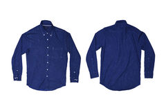 Isolated blue jean casual shirt Royalty Free Stock Image