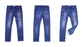 Isolated blue jean Royalty Free Stock Image