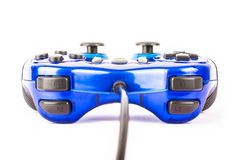 Isolated blue joystick for controller and play video game isolate. The isolated of the blue joystick for controller and play video game on white background Stock Image