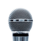 Isolated blue microphone Royalty Free Stock Photos