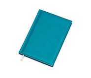 Isolated blue notebook Royalty Free Stock Photography