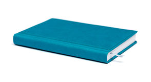 Isolated blue notebook Stock Image