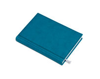 Isolated blue notebook Stock Images