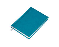 Isolated blue notebook Royalty Free Stock Photo