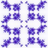 Isolated blue orange fractal ornaments in white background. Red corner of frame. Royalty Free Stock Image