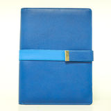 Isolated blue organizer book with belt Stock Photography