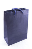 Isolated of the blue paper bag for shopping Royalty Free Stock Images