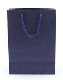 Isolated of the blue paper bag for shopping Stock Photography