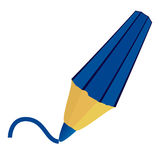 Isolated blue pencil. Stock Image