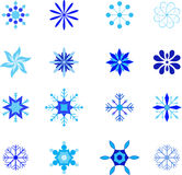 Isolated Blue Snoflake Illustrations Royalty Free Stock Image