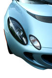 Isolated blue sports car on white. A isolated blue sports car on white Royalty Free Stock Photos