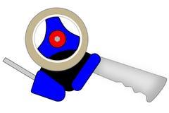 Isolated blue tape gun illustration Royalty Free Stock Photos