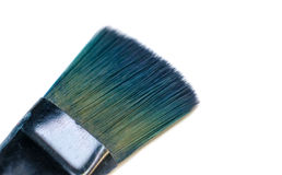 Isolated blue used painter brush Stock Photography