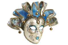 Isolated Blue Venetian mask Royalty Free Stock Photos
