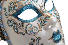 Isolated Blue Venetian mask on a white  background Stock Photography