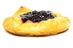 Isolated blueberry danish Royalty Free Stock Images