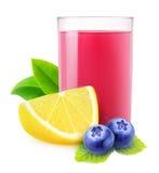 Isolated blueberry lemonade stock photo