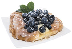 Isolated Blueberry Tart Royalty Free Stock Image