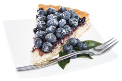 Isolated Blueberry Tart Royalty Free Stock Photos